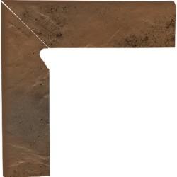 Cokół schodowy dwuelementowy strukturalny Semir Beige lewy