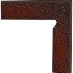 Cokół schodowy dwuelementowy strukturalny Cloud Brown Duro Prawy