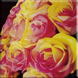 Uniwersalne Inserto Szklane Kwiaty 20x20