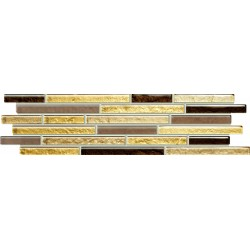 Venatello brown mosaic 372x98 mm