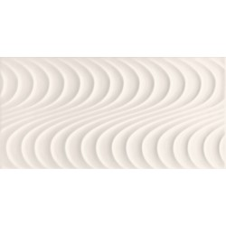 Wave white A  448x223 mm