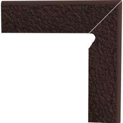 Cokół schodowy dwuelementowy strukturalny Natural Brown Duro Prawy