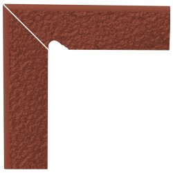 Cokół schodowy dwuelementowy strukturalny Natural Rosa Duro Lewy