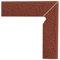 Cokół schodowy dwuelementowy strukturalny Natural Rosa Duro Prawy